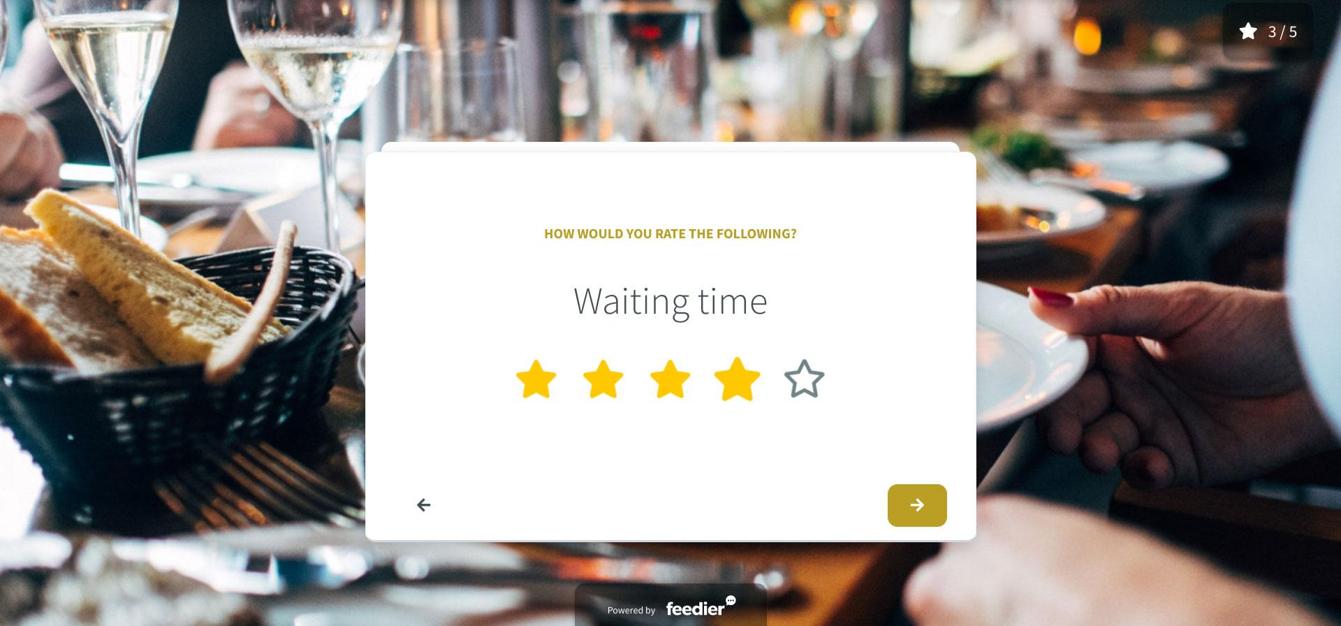 Restaurant Feedback form template